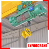 Electric Trolley Wire Rope Hoist Double Speed Capacity 10t