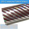 Purplish Red/Silver (Twill) Laser Rainbow Holographic 2D Carbon Fiber Film