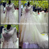Sexy A-Line Wedding Gown Applique Tulle Crystal Beads Wedding Dress Zy06