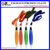 Customized Logo Plastic Ball Pen with Lanyard (EP-P8284)