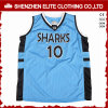Custom Blue Men embroidered Polyester Basketball Jersey
