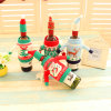 New High-Grade Knitted Christmas Wine Bottle Sets of Red Wine Bottle Cover 4 Models