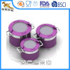 Painted Stainless Steel Pot Set with Silicone Coated Handle (GES-2024)