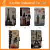 Painting Tower Leather Card Stand Wallet Flip Cover Case for Samsung, iPhone, Huawei, LG, Motorola and Xiaomi