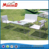 2 Seater Textile Chair Tempered Glass Top Table Set