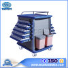 Bmt-01 Hospital Double Side ABS Medical Drag Emergency Infusion Medication Trolley
