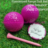 Rose Red Color Customized Low Bounce Short Distance Golf Ball