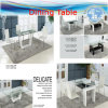 Dining Tables, Chairs, PU Leather, Fireproof Sponge, Chrome, Fabric