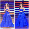 Sweetheart Ball Gowns Applique Blue Formal Party Evening Dresses Y2025