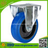 Industrial Elastic Rubber Wheel, Fixed Caster for Trolley