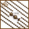 Factory Direct Sale Cheaper Ball Chain Antique Brass Ball Chain