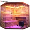 Smartmak Luxury Rock Salt Sauna Steam Room, LED Star Lights Corner Sauna for Sale