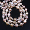 Purple Keshi Pearl Strand Reborn Pearl Strands Baroque Pearl Necklace