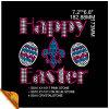 Happy Easter Heat Press Rhinestone Transfers (kk)