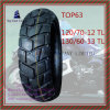 Tubeless, Nylon 6pr Super Quality Motorcycle Tire with Size 120/70-12tl, 130/60-13tl