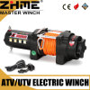 3500lbs 12V ATV Synthetic Rope Winch with High Performance Motor