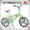 "20"" White Tire Alloy One Piece Wheel BMX Freestyle Bicycle (ABS-2038S)"