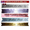 Baby Shower Party Sash Personalised Party Sashes Baby Boy Girl Mum (BO-2002)