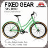 700c Lady Fixed Gear Bicycle