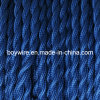 Dark Blue Twisted Cloth Covered Wire