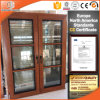 Oak Wood Tilt Turn Window China Manufacturer with Wood Grain Color Finishing