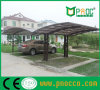 Aluminum Double Carprot with Polycabornate Roof Carport