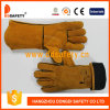 Ddsafety Yellow Cow Split Red Reinforced Palm Gloves Ab Grade