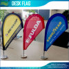 Customized Printed Teardrop Table Flag with Stainless Steel Stand