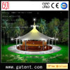 Q235 Steel Structure PVDF Cover Pemanent Circular Tent