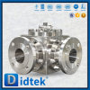 Didtek Flange Ends Stainless Steel CF8m 4 Way Ball Valve for Refinery