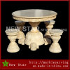 Beige Marble Table and Benches Outdoor Furniture Mt1708