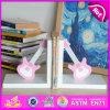 2015 Brand New Wood Guitar Bookend, Wooden Sujetalibros, Cute Wooden Guitar Bookend, Wooden Guitar Bookend for Student W08d062A