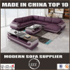Affordable Bonded Leather Living Furniture Sofa Set with Ottoman