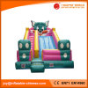 2017 High Quality 0.55mm PVC Tarapulin Inflatable Cat Slide (T4-203)