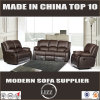 Reclining Brown Leather Sofa (Lz6025)