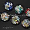 Lookathot 1 Box 3D Crystal Ab Nail Rhinestone Diamond Iridescent Beads Gold Metallic Jewelry Gems Flatback Stones Nail Art (EN001)