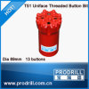 Rock Thread Button Bit T51-89mm, 13buttons, Regular Skirt