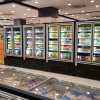 Commercial Side by Side Glass Door Refrigerator Freezer
