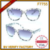 F7755 Transparent Common Designed Plastic Sunglass Frames