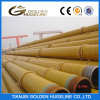 Yellow Glasswool Thermal Anti-Corrosion Layer Coated Steam Insulation Steel Pipe