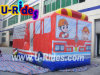 Firework bus inflatable bouncer inflatable castle bouncy house for kids