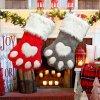Christmas Decoration Stocking Pendant Dog's Paw Christmas Sock Gift Bag