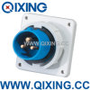 Cee 16A 230V Blue 3 Pins Industrial Panel Mounted Plug (QX826)