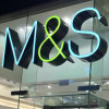 M&S Face-Lit LED Stainless Steel Channel Letter Sign