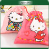 Small Size Cat Printed Canvas Jewelry Gift Bag
