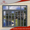 Double Track Sand Gray Aluminium Profile Sliding Window