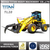 Titan Micro Carregadeira Mahindra Tractor Front End Zl 12 Wheel Loader with 4 in 1 Bucket