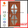 New Design of PVC Wood Door with Windows Sw-P007