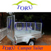 Austrailia Farm Galvanized Tandem Utility Box Welded Tipping Cage Trailer
