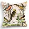 Decoration Square Spring Birds Design Decor Fabric Cushion W/Filling